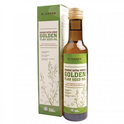 BIOGREEN Organic Extra Virgin Golden Flaxseed Oil 250ML